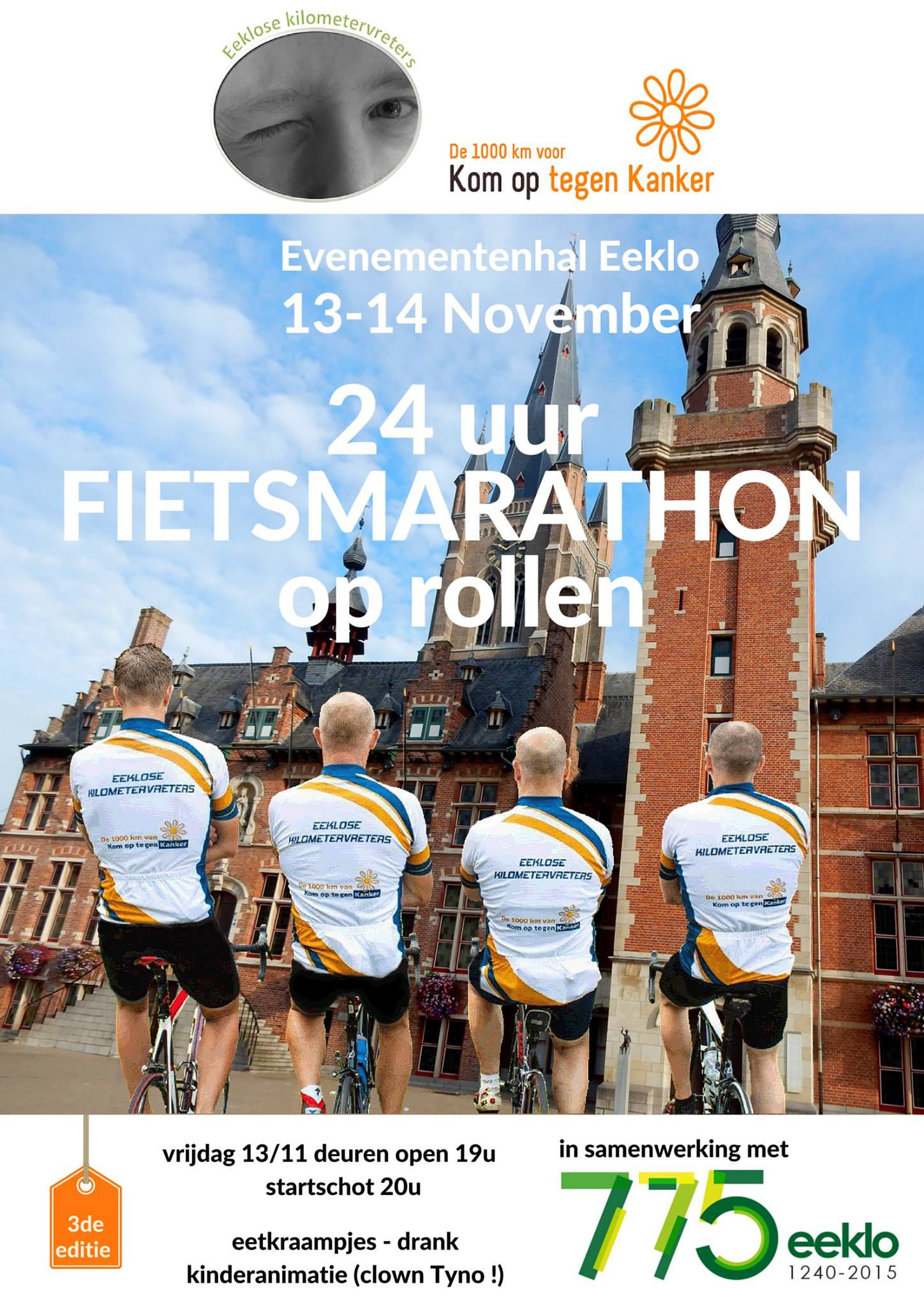 fietsmarathon voor Kom op tegen Kanker